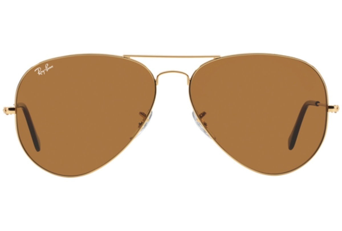 Ray Ban - Occhiale da Sole Unisex, Aviator Classic B-15, Gold/Mirror Brown RB3025 001/33 C58