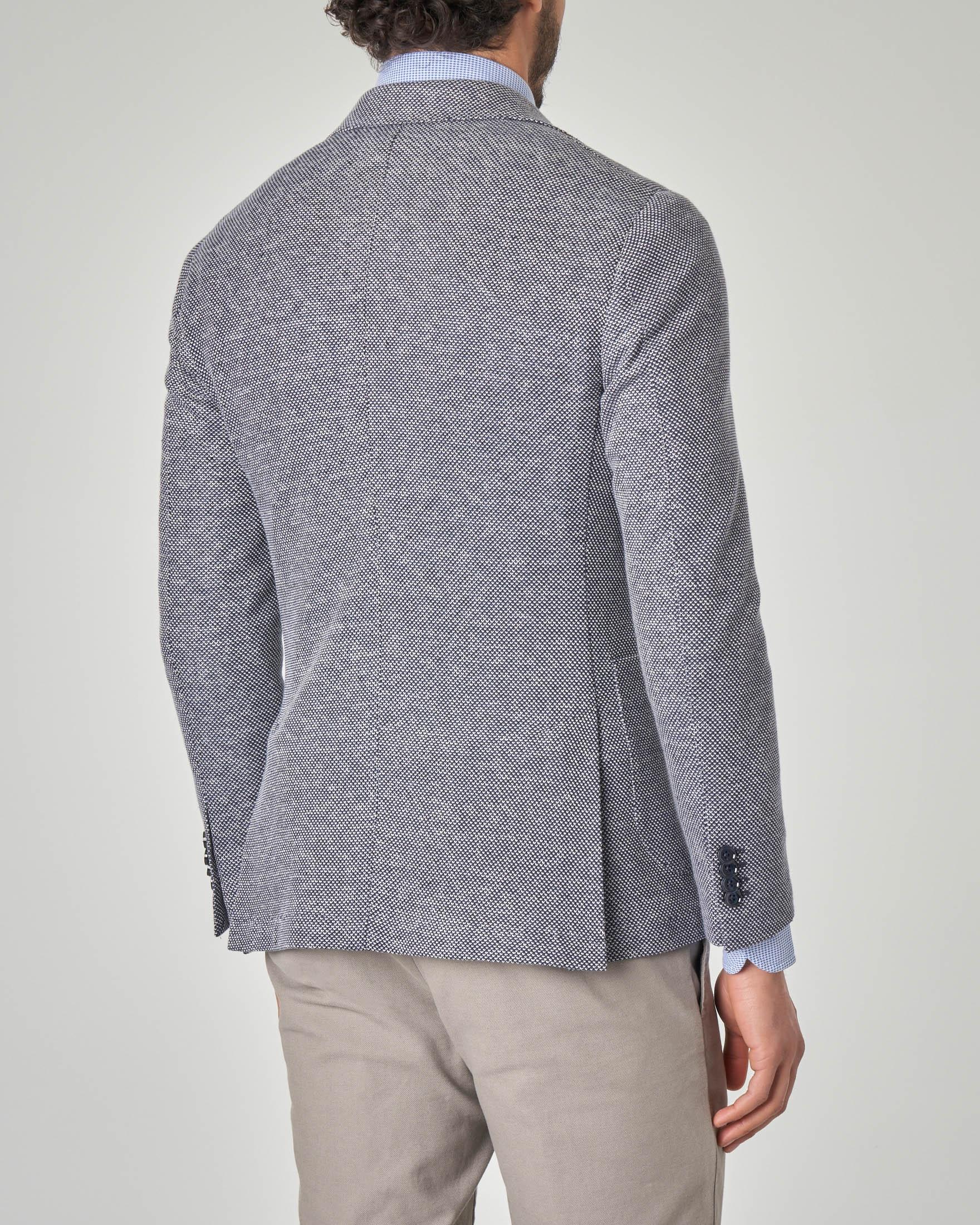 the best attitude 91915 06c0a Giacca blu e bianca in cotone e lino | Pellizzari E-commerce