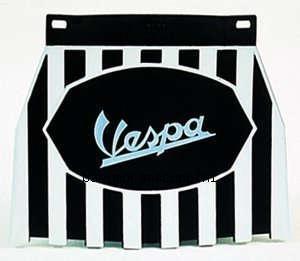 Paraspruzzi posteriore Vespa. Nero/bianco con logo Vespa centrale C133/SS