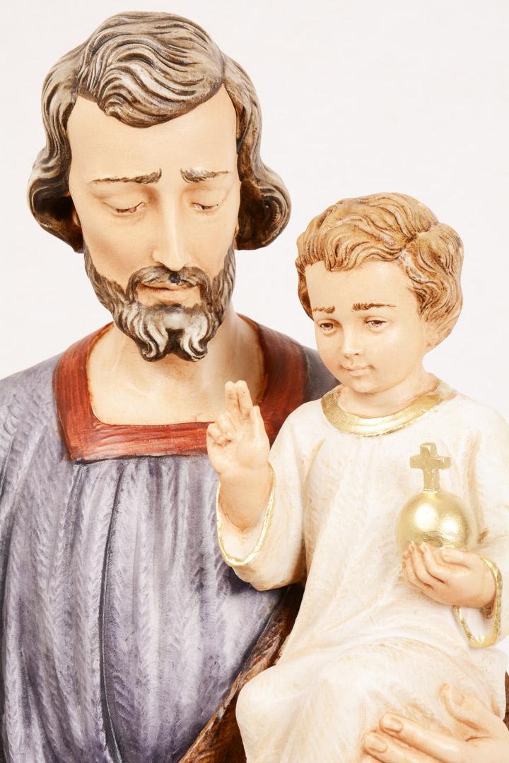 Statua San Giuseppe in Resina h. 90 PASQPA910