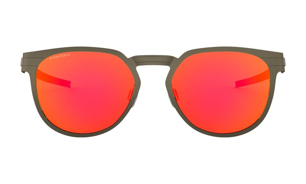 Oakley - Occhiale da Sole Unisex, Diecutter, Pewter/Prizm Ruby OO4137-0255 C55