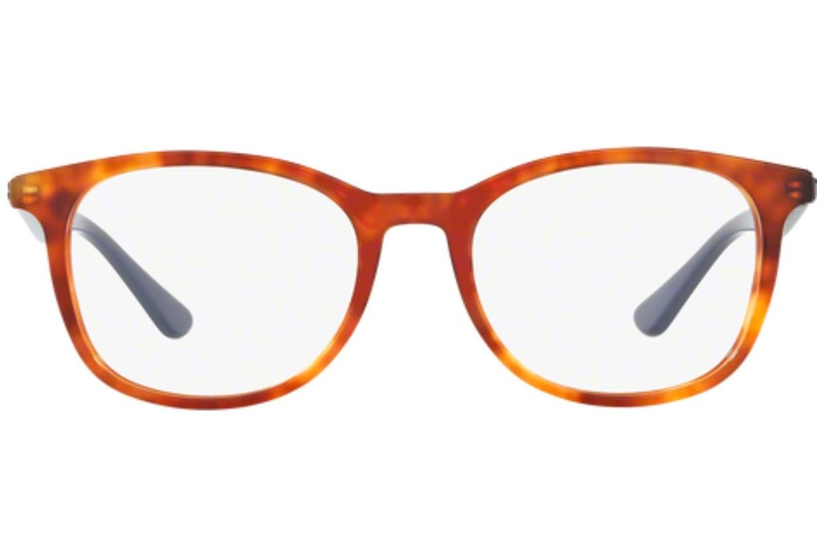 Ray Ban - Occhiale da Vista Unisex, Wayfarer Optics, Shiny Red Havana/Blue RX5356 5609 C54