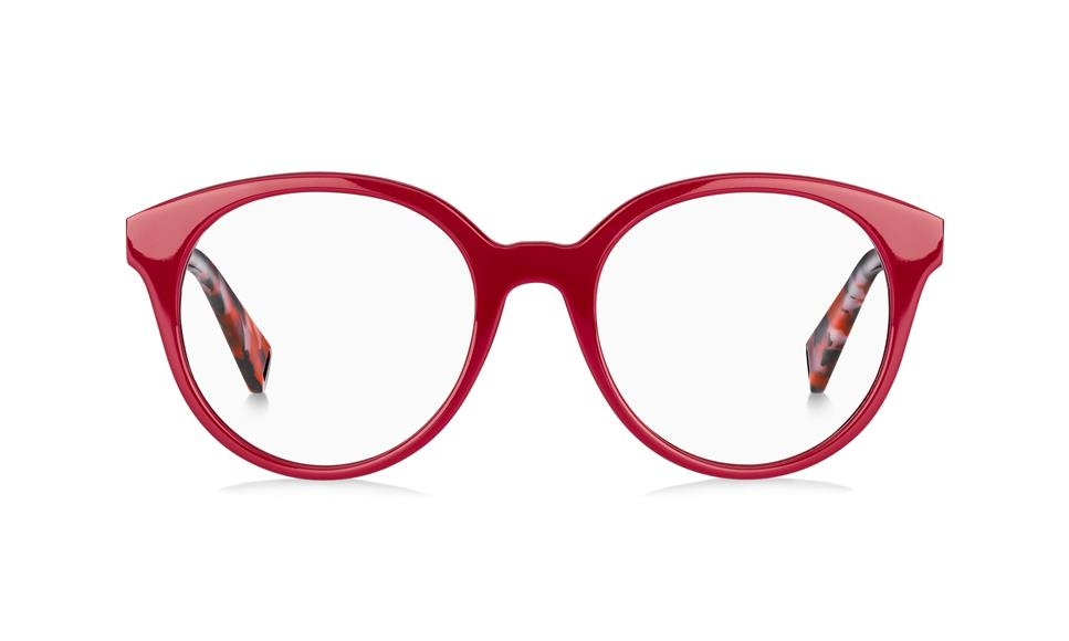 Max & Co - Occhiale da Vista Donna, Red Silver/Red Havana 341 C9A C49