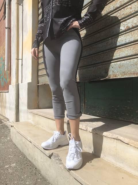 Pantalone con bande in contrasto in Sensitive Bicolor Oroblù XS