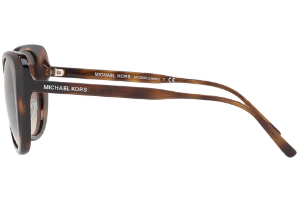 Michael Kors - Occhiale da Sole Donna, Lisbon, Dark Havana/Smoke Gradient MK 2062 3285/13  C52