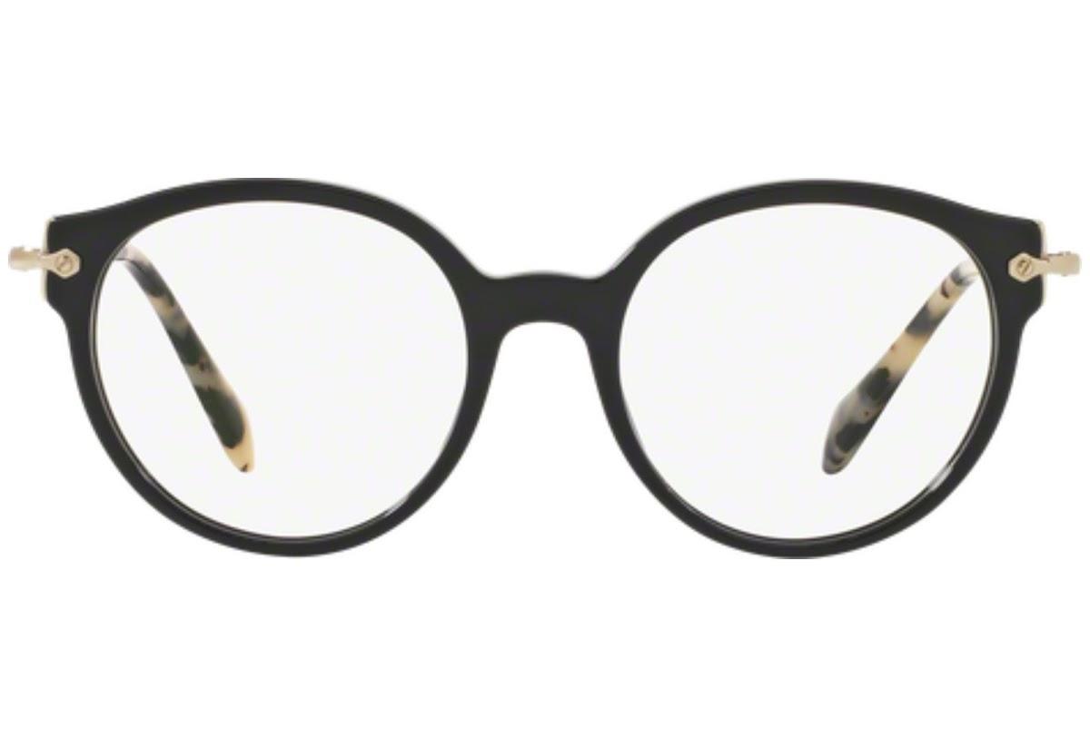 Miu Miu - Occhiale da Vista Donna, Core Collection Noir Evolution, Top Black/Gold MU 04PV 1AB1O1 C52