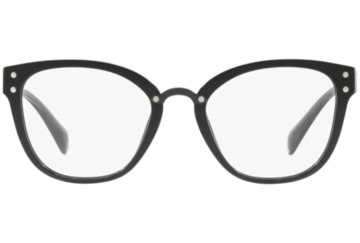 Miu Miu - Occhiale da Vista Donna, Core Collection Sorbet Evolution, Shiny Black MU 04QV 1AB1O1 C52