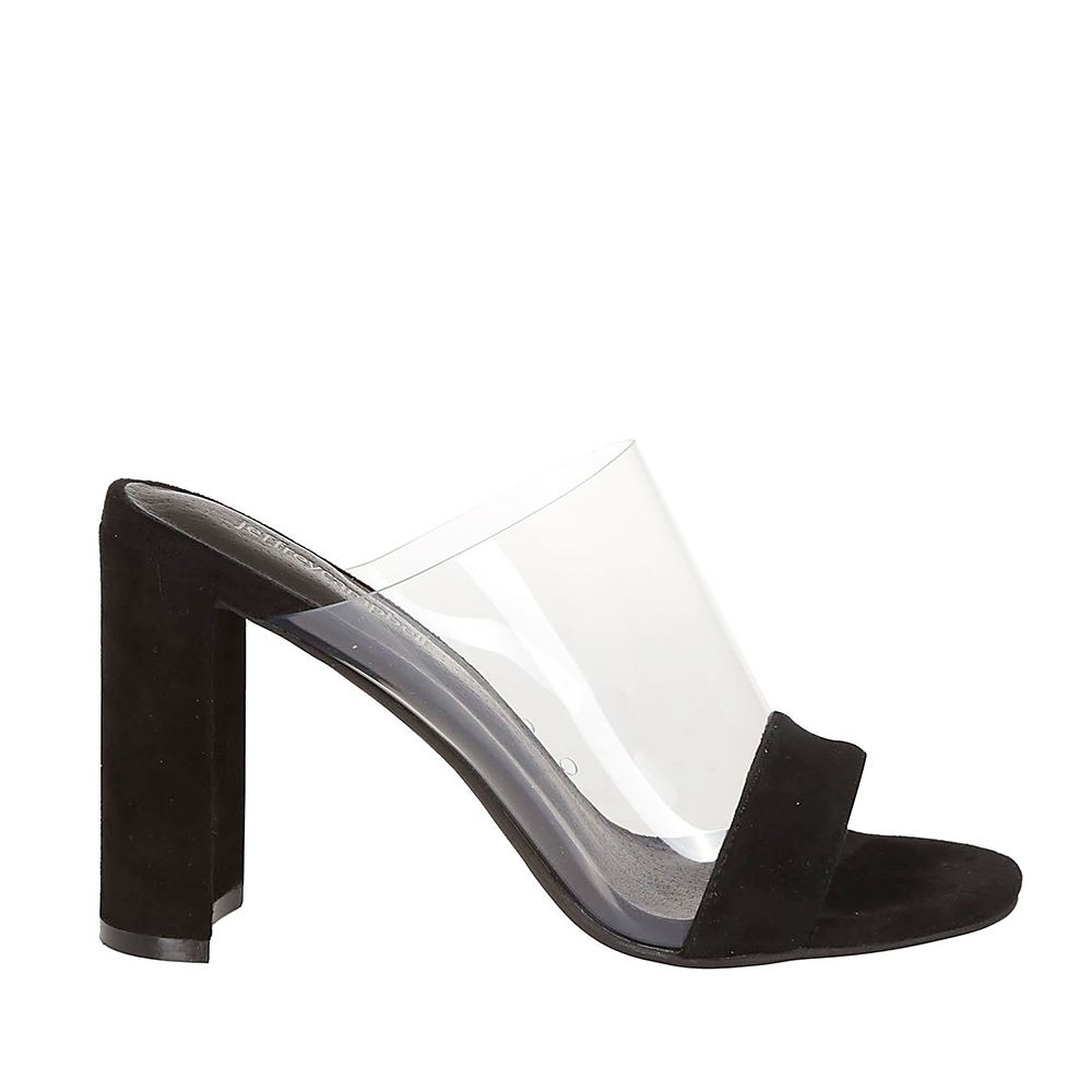 J.CAMPBELL 17 KEIRA SUEDE BLACK CLEAR