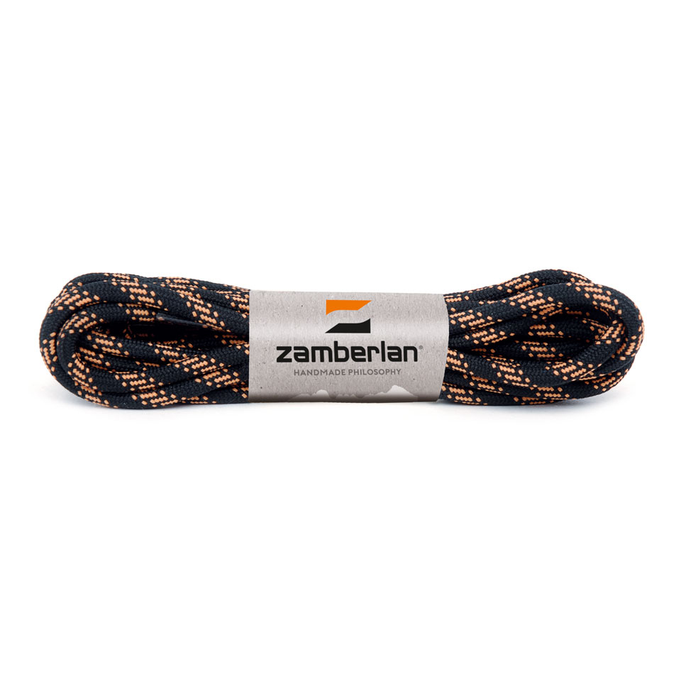 ZAMBERLAN® REPLACEMENT ROUND BOOT LACES    -   Black / Orange