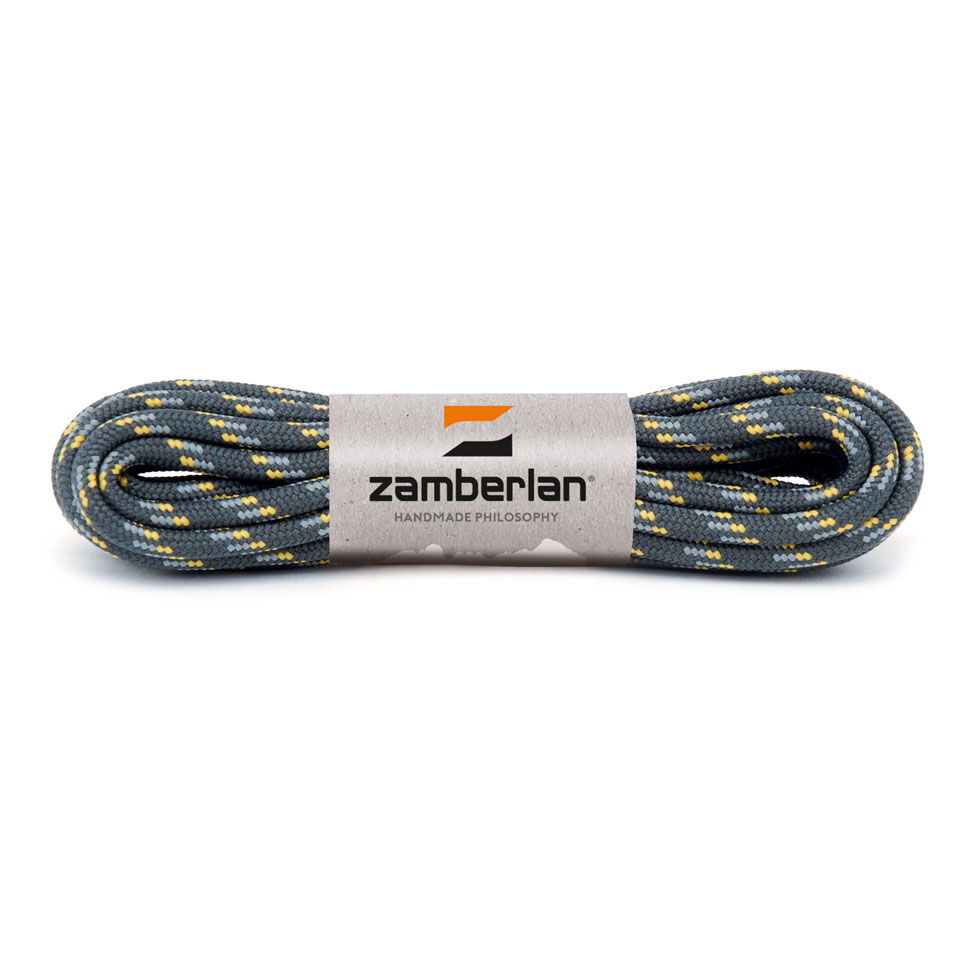 ZAMBERLAN® REPLACEMENT ROUND BOOT LACES    -   Grey / Yellow