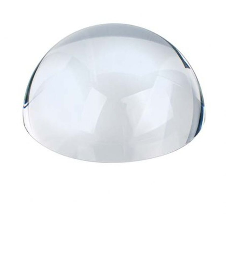 Fermacarte lente mezza sfera in vetro trasparente cm.3,5h diam.8