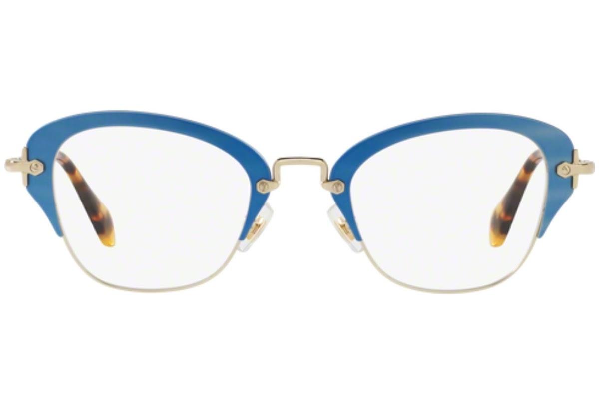 Miu Miu - Occhiale da Vista Donna, Noir, Matte Azure/Tortoise VMU53O VA71O1 C50