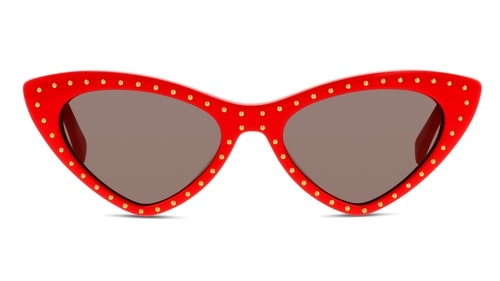Moschino - Occhiale da Sole Donna, Red and Studs/ Dark Grey Shaded MOS006/S C9A/IR  C52