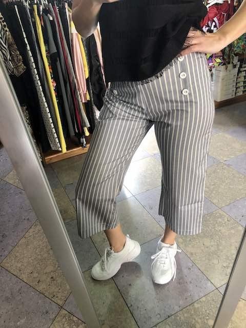 Pantalone svasato a righe Blueberry Oroblu