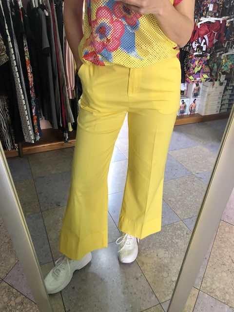 Pantalone in gaberdine di cotone Oroblu