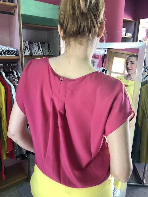 T-shirt in rete stampata Ibiscus Oroblu Taglia S