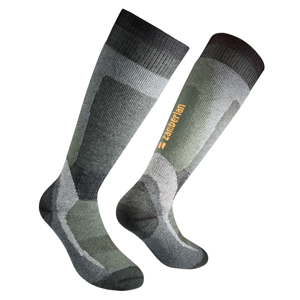 ZAMBERLAN® THERMAL MERINO HIKING SOCKS   -   High Cut   -   Green