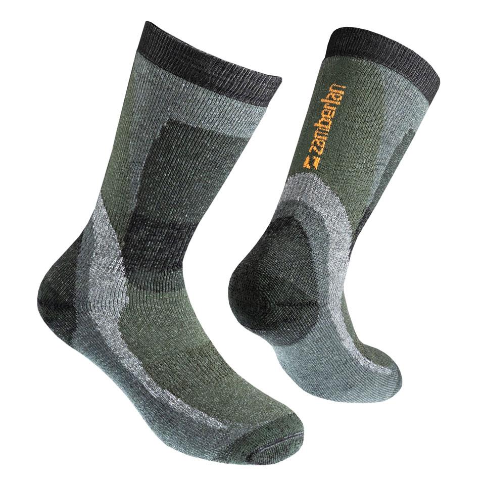 ZAMBERLAN® THERMAL MERINO HIKING SOCKS   -   Mid Cut   -   Green