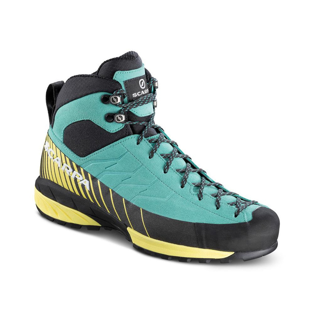 MESCALITO MID GTX WMN   -   Technical approach also in wet trails, designed for woman's fit   -   Green blue-Light Lemon