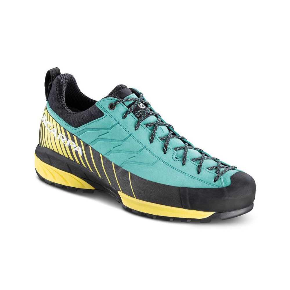 MESCALITO GTX WMN   -   Technical approach, via ferratas, hiking on rainy days   -   Green blue-Light Lemon