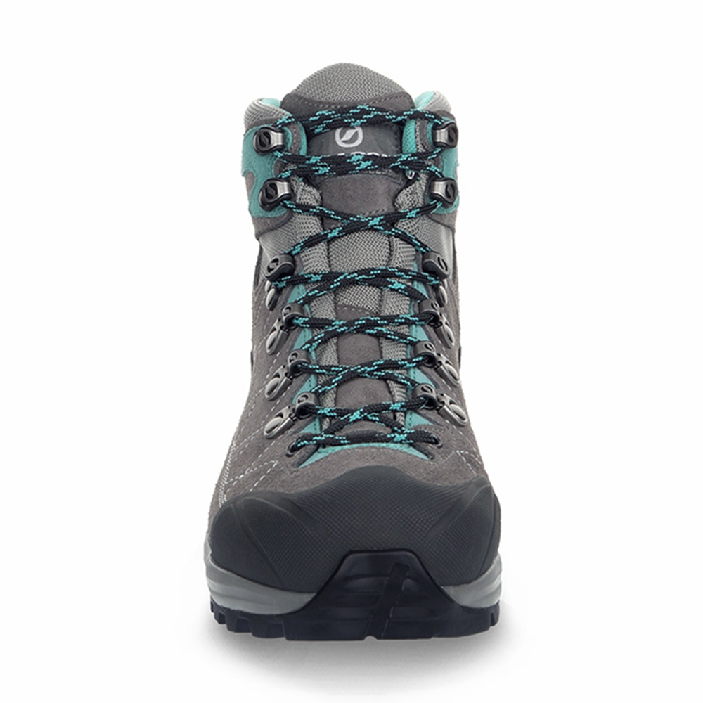 KAILASH TREK GTX WMN   -   On trails with full backpacks, waterproof   -   Titanium-Smoke-Lagoon