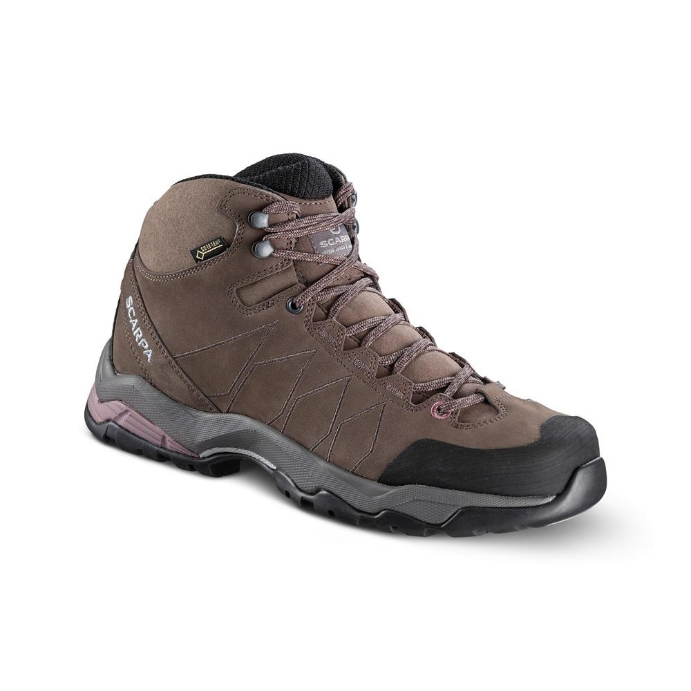 MORAINE PLUS MID GTX WMN   -   Hikinh su terreni misti, Impermeabile   -   Charcoal-Dark Plum