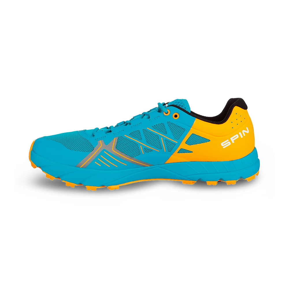 SPIN   -   Trail running, leggera e grip notevole   -   Sea-Bright Orange