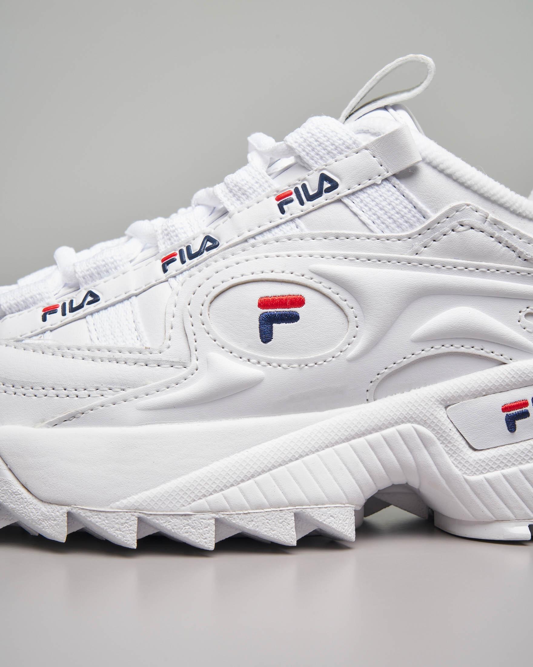 Sneaker Fila D-Formation bianche con rifiniture rosse e blu | Pellizzari  E-commerce