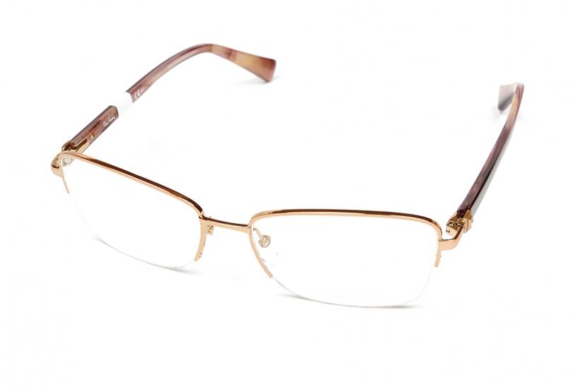 Pierre Cardin - Occhiale da Vista Donna, Light Gold Brown P.C. 8814 KH3 C55