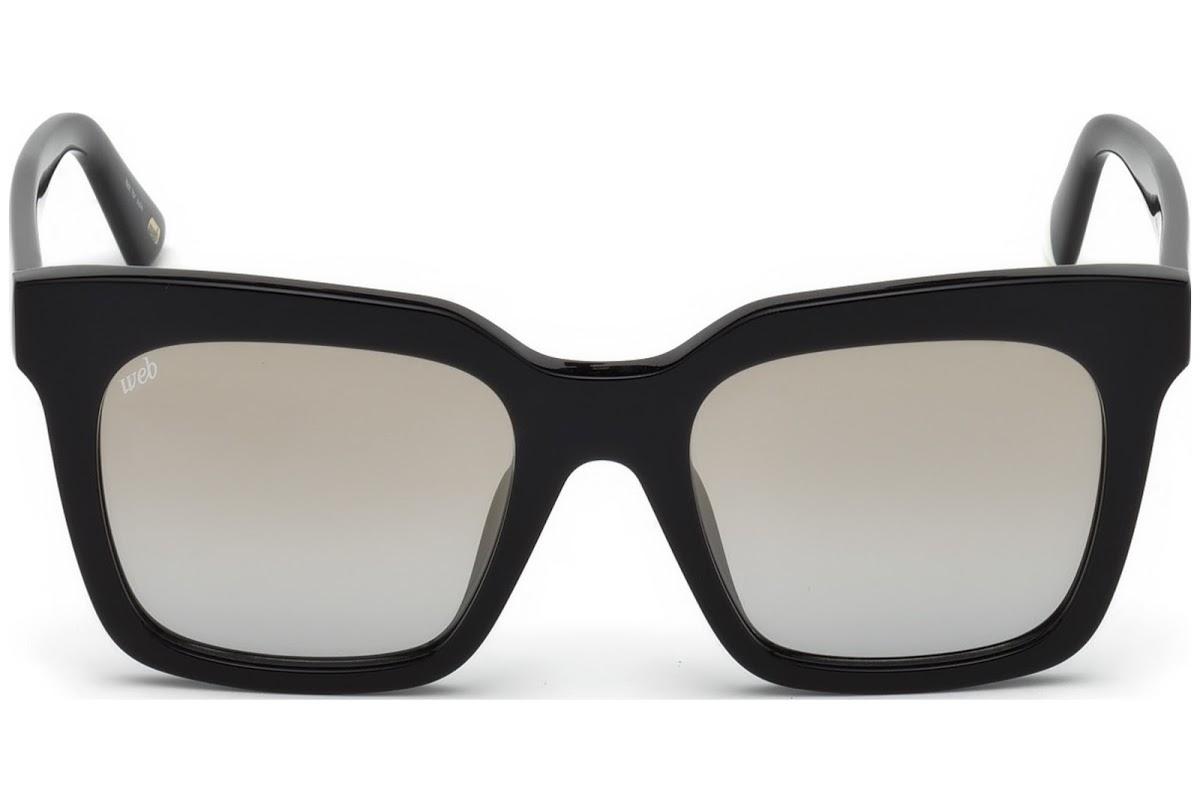 Web - Occhiale da Sole Donna, Shiny Black/Smoke Mirror WE0222 01C C49