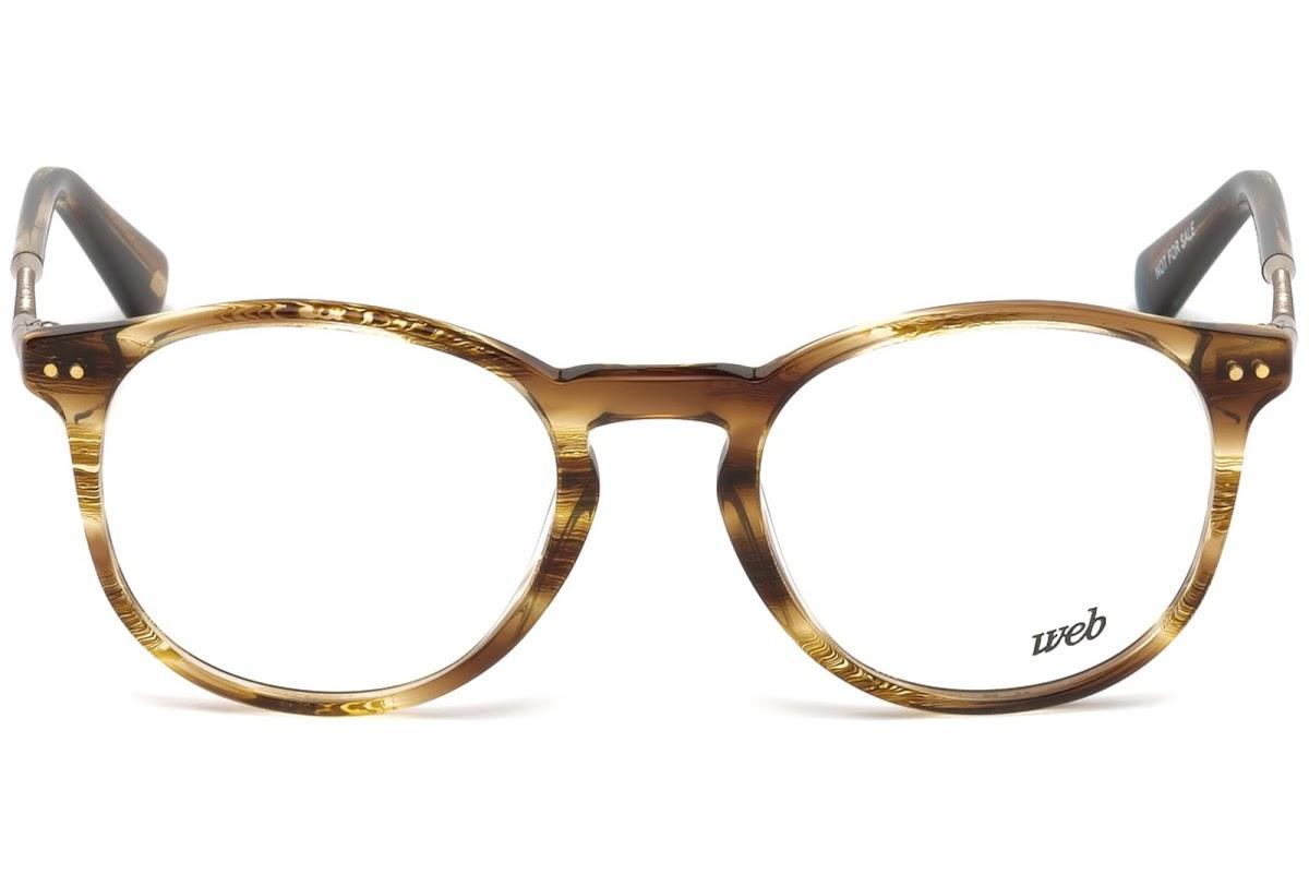 Web - Occhiale da Vista Uomo, Shiny Dark Brown WE5221 048 C50