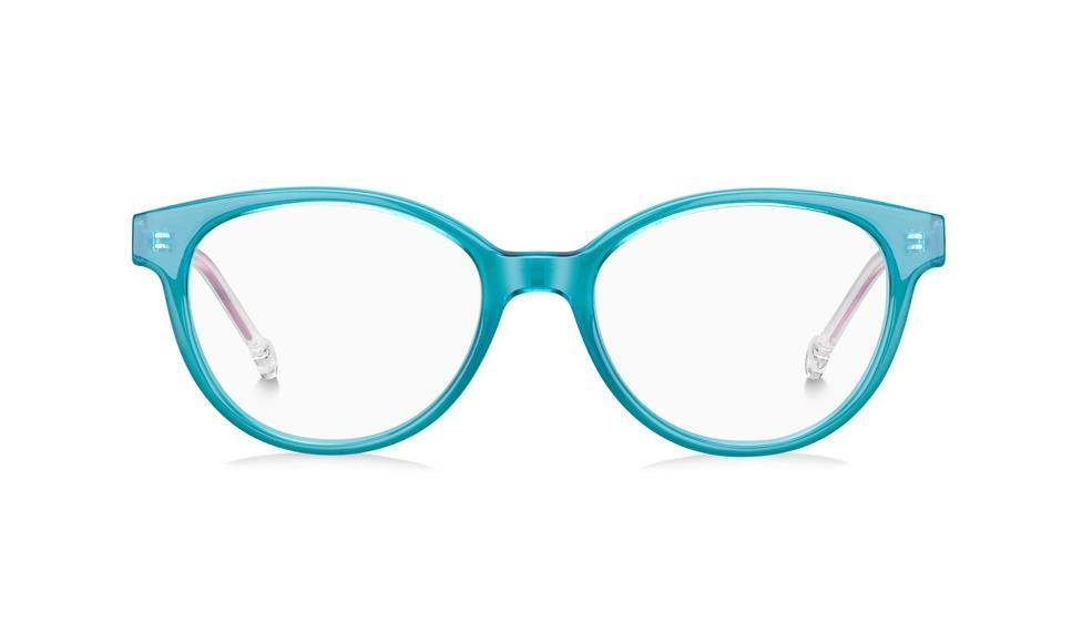 Tommy Hilfiger - Occhiale da Vista Bambina, Green Water/Pink TH 1428 Y5C  C49