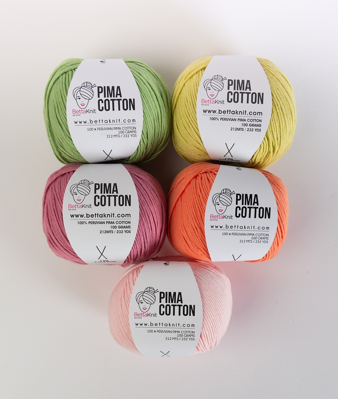 Packs of Skeins -  - Pima Cotton Pack - 5 balls  - 1