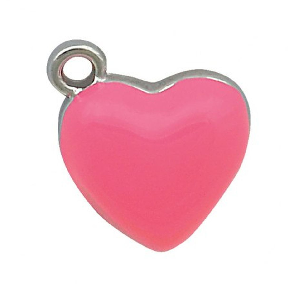 Charm cuore cromato rosa