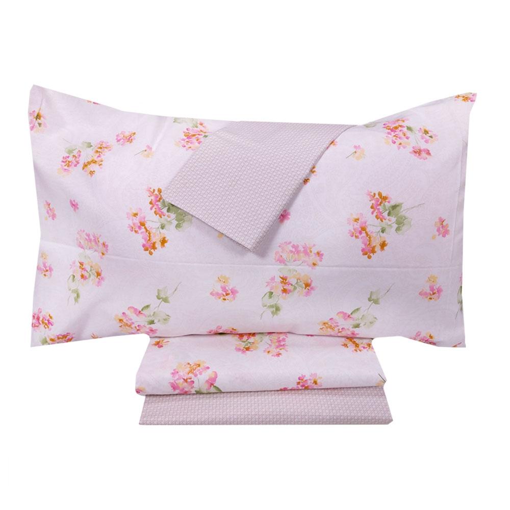 Zucchi Lenzuola Matrimoniali.Set Of 2 Double Bed Sheets Zucchi Basics Delight 1 Pink