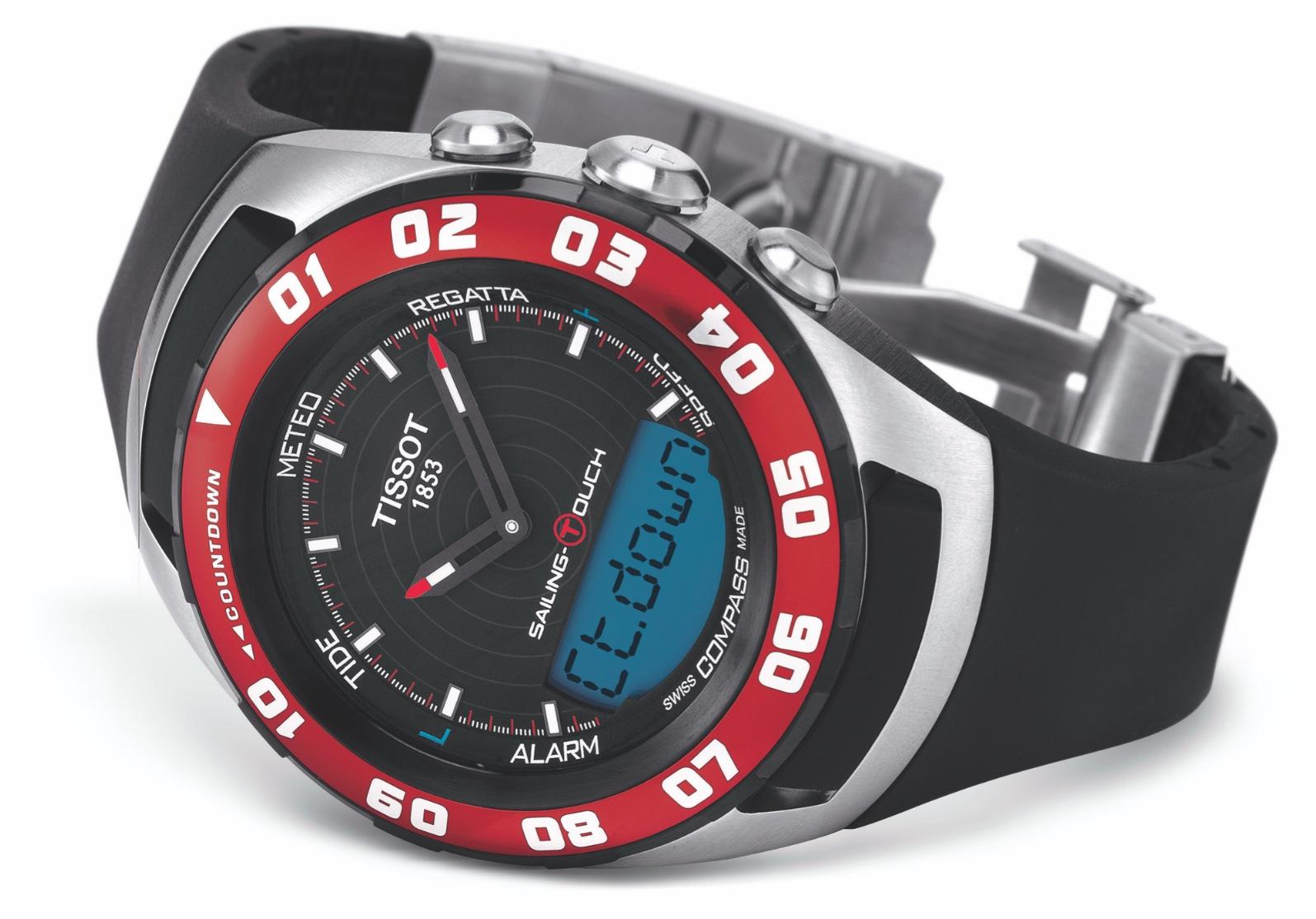Sconto-10% orologio Tissot Uomo Sailing-Touch, colore Rosso, T056.420.27.051.00
