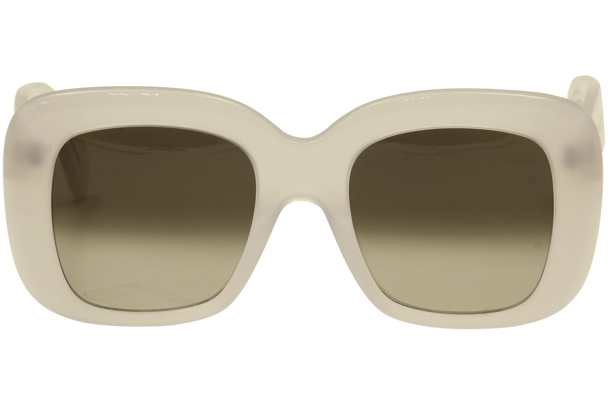 Céline - Occhiale da Sole Donna, Stella, Matte White/Brown Grey Shaded 41433/S AYC/Z3  C52