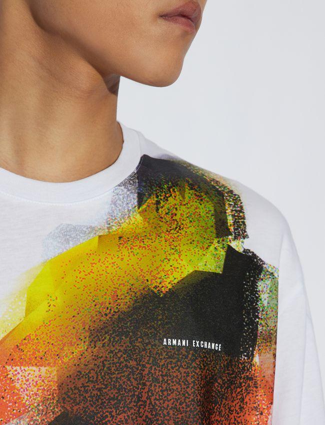 T-shirt uomo ARMANI EXCHANGE con stampa multicolor