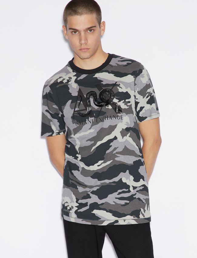 T-shirt uomo ARMANI EXCHANGE camouflage con logo