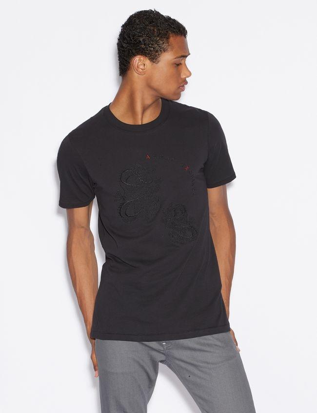 T-shirt uomo ARMANI EXCHANGE con drago ricamato