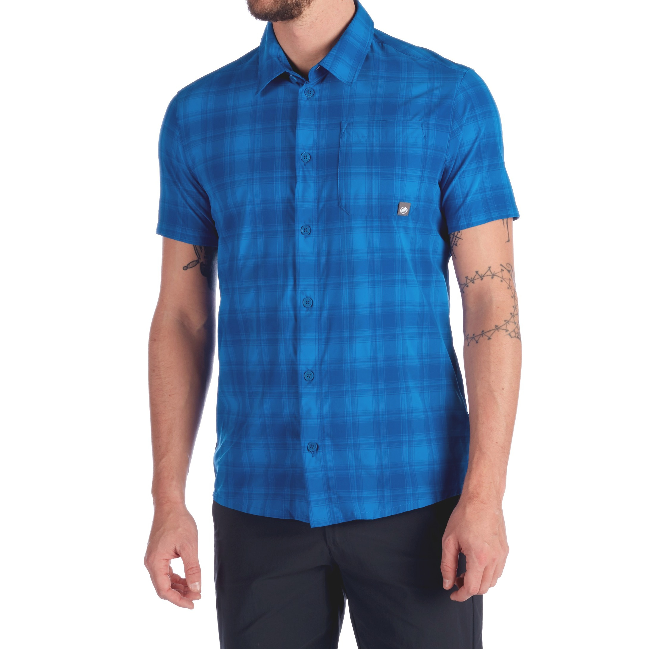 Camicia uomo MAMMUT TROVAT TRAIL SHIRT MEN surf blue