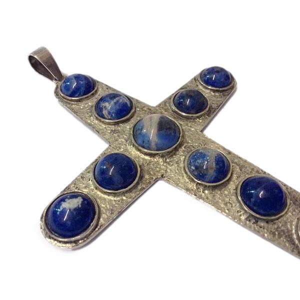 Croce Pettorale in Argento e Sodaliti
