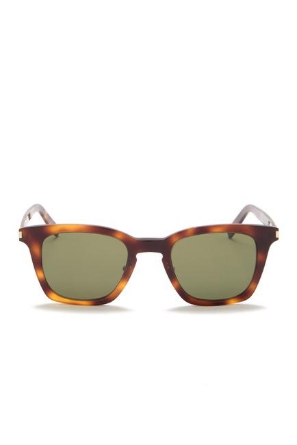 Yves Saint Laurent - Occhiale da Sole Unisex, SL 138, Shiny Medium Havana/Green Shaded 002  C47
