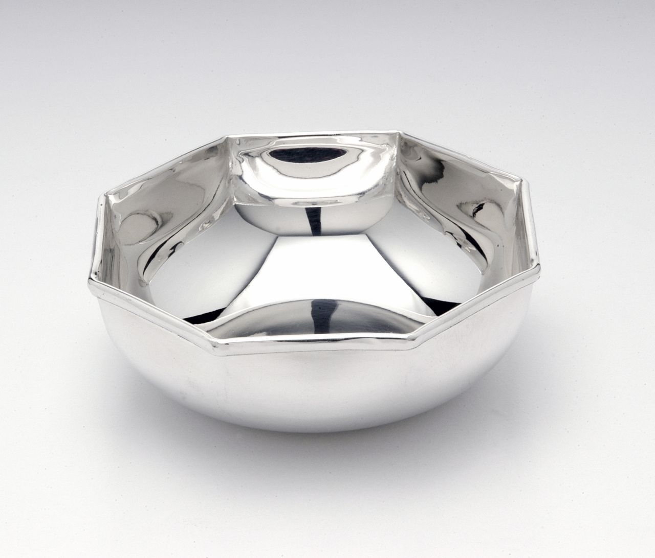 Ciotola ottagonale placcata argento
