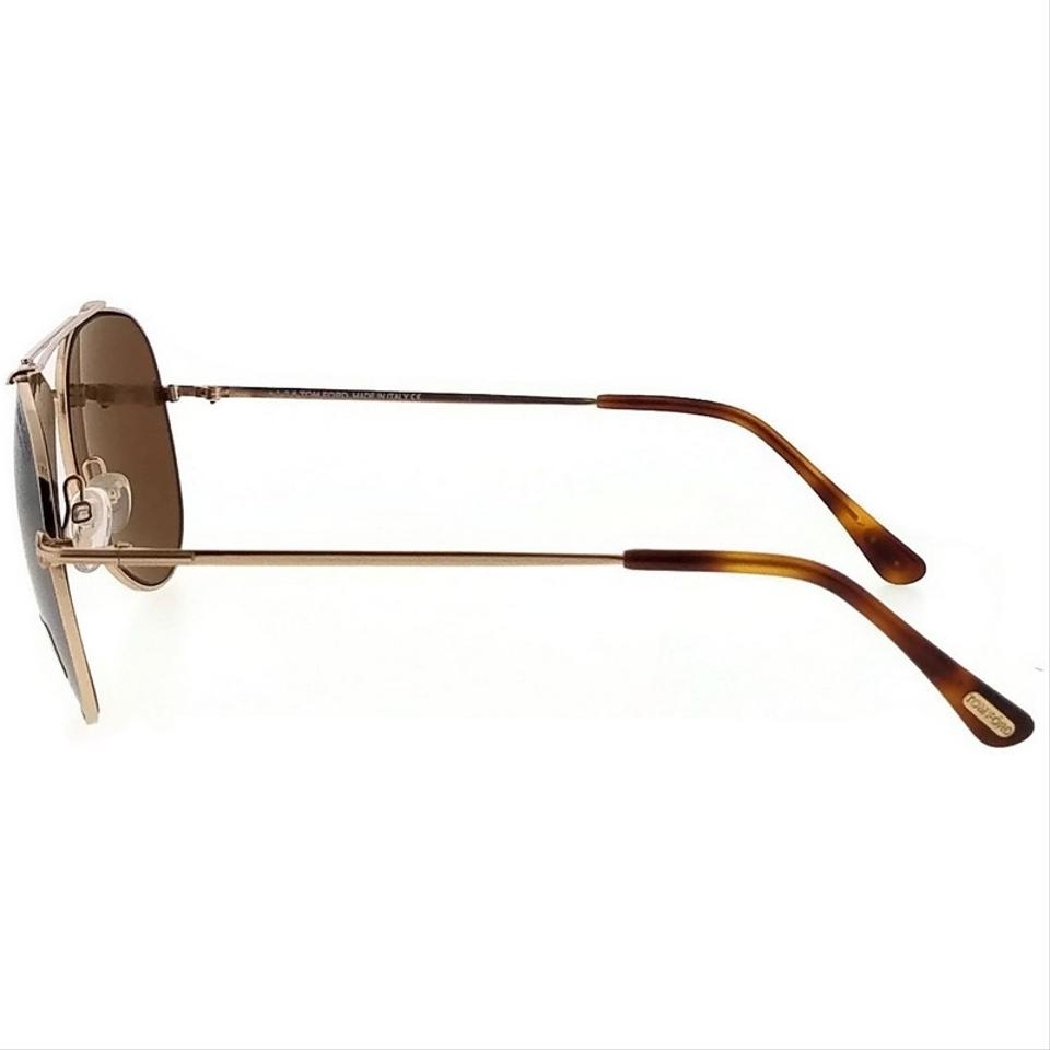 Tom Ford - Occhiale da Sole Unisex, INDIANA, Gold/Brown-Gold Polarized  FT 0497 (28H)  C54