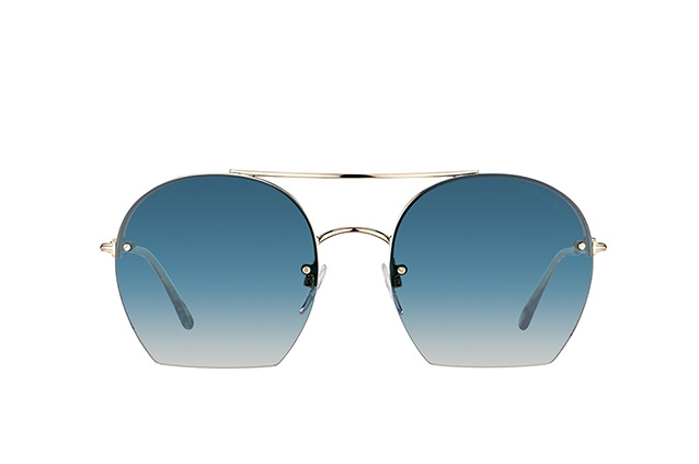 Tom Ford - Occhiale da Sole Donna, ANTONIA, Shiny Rose Gold/Blue Shaded   FT 0506 (28W)  C55