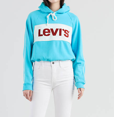Felpa donna LEVI'S CROPPED COLORBLOCK
