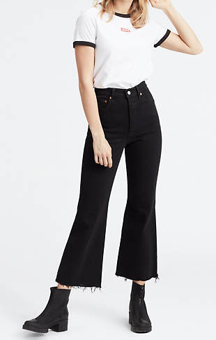 Jeans donna LEVI'S RIBCAGE CROP FLARE