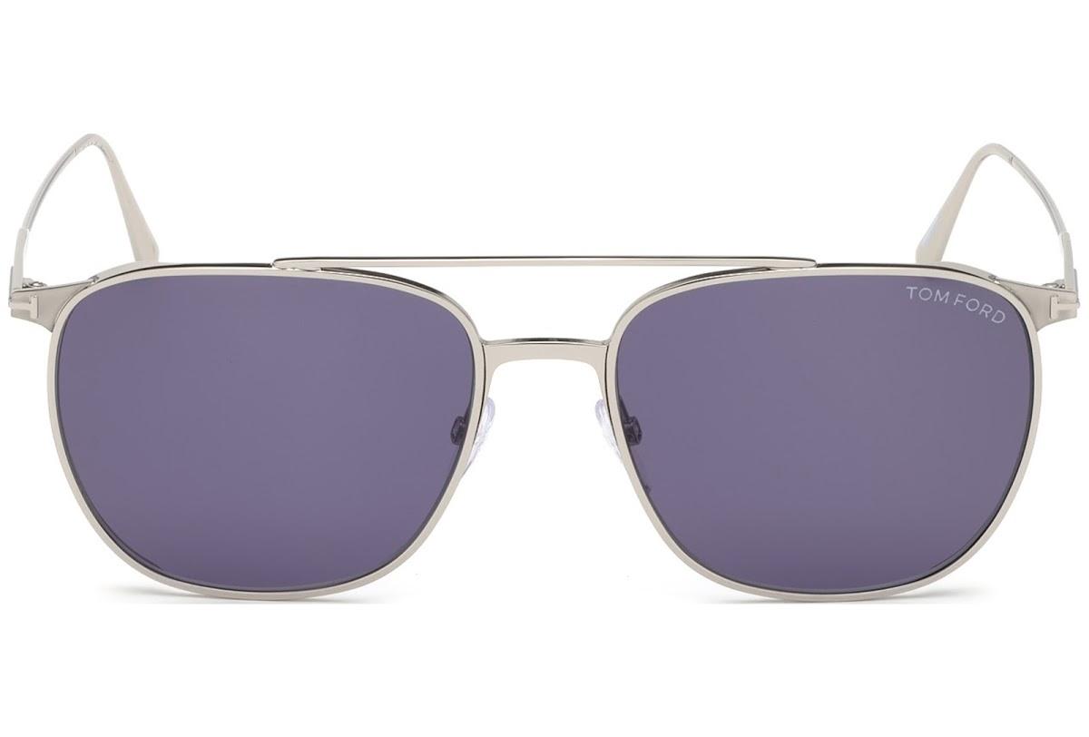 Tom Ford - Occhiale da Sole Uomo, KIP, Silver/Violet Shaded  FT0692 (16V)  C58