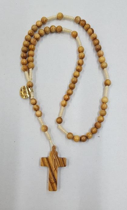 Rosario in legno d'ulivo